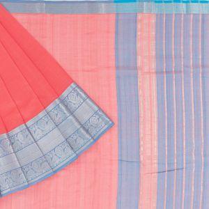 Mangalagiri Silk Lines Peach Saree