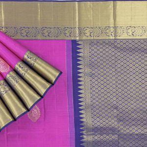 Kancheepuram Silk Buttis Pink Saree
