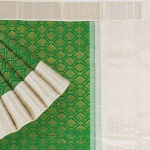Kancheepuram Silk Buttis Green Saree